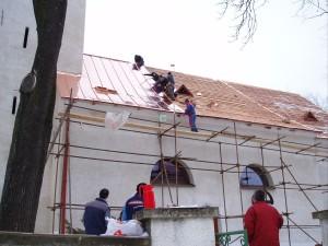 Rekonštrukcia strechy kostola - Brezovička