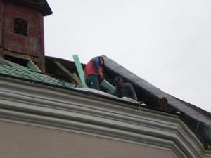 Rekonštrukcia strechy kostola - Komjatná