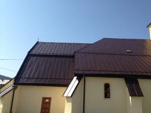 Rekonštrukcia strechy kostola - Nižný Slavkov