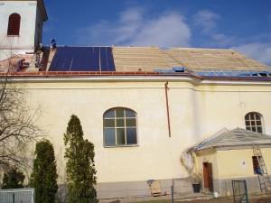 Rekonštrukcia strechy kostola - Podhorany pri Nitre