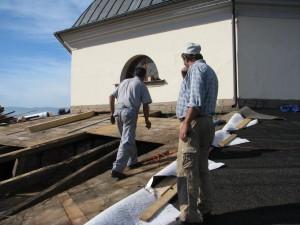 Rekonštrukcia strechy kostola - Levoča