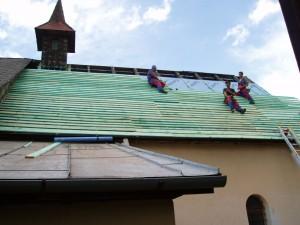 Rekonštrukcia strechy a veže kostola - Matejovce nad Hornádom