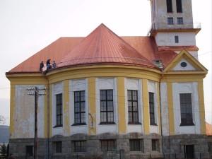 Rekonštrukcia strechy kostola - ECAV Pliešovce