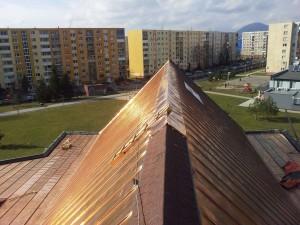 Rekonštrukcia strechy kostola - Prešov, Sekčov