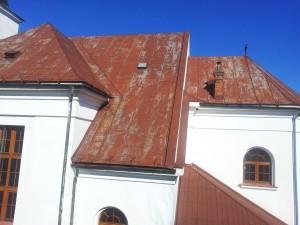 Rekonštrukcia strechy kostola - Chlebnice