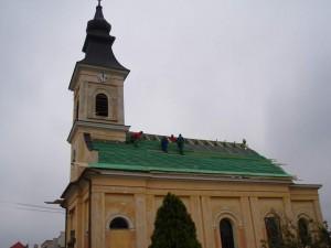 Rekonštrukcia strechy kostola - Trebatice