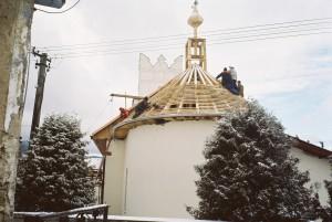 Rekonštrukcia strechy kostola - Červenica pri Sabinove