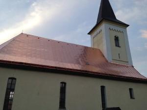 Rekonštrukcia strechy kostola - ECAV Žaškov