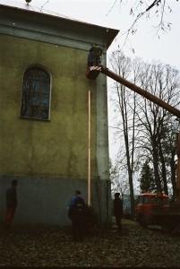 Rekonštrukcia strechy kostola - Rožkovany