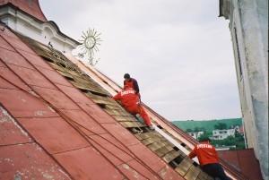 Rekonštrukcia strechy a veží kostola - Višňové pri Žiline