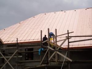 Nová strecha kostola - Stuľany