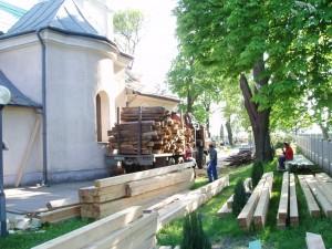 Rekonštrukcia strechy kostola - Haniska pri Košiciach