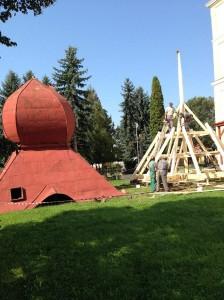 Rekonštrukcia veže kostola - Hokovce