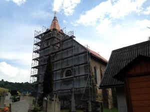 Rekonštrukcia strechy kostola - Lacková