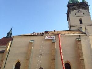 Rekonštrukcia strechy konkatedrály - Prešov