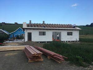 Nová strecha pálenice Hamborek - Brezovička