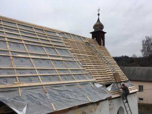 Rekonštrukcia strechy a veže kostola - Liptovský Ondrej