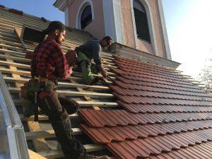 Rekonštrukcia strechy a veže kostola - Vinodol