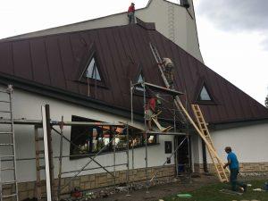 Rekonštrukcia strechy kostola - Ivachnová