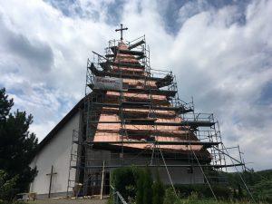 Rekonštrukcia veže kostola - Drienovská Nová Ves