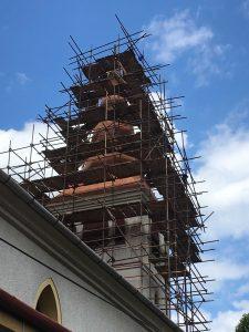Rekonštrukcia strechy a veže kostola - Brekov