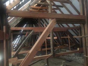 Rekonštrukcia strechy kostola - Hronovce