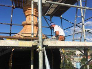 Rekonštrukcia veží kostola - Ilava