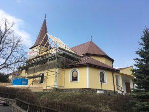 Rekonštrukcia strechy kostola - Poloma