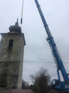Rekonštrukcia veže kostola - Dolné Strháre