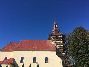 Rekonštrukcia veže kostola - Vysoká nad Kysucou